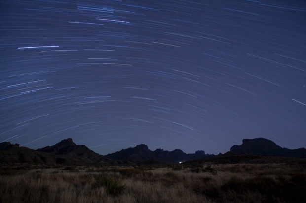 stars over the chisos basin in big bend national park, texas