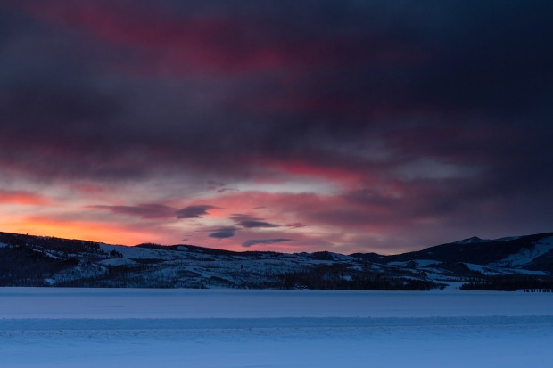 A colorfull sunrise over the Gros Ventre near Grand Teton National Park, WY