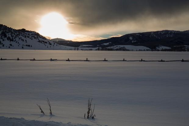 A colorfull sunrise over the Gros Ventre near Grand Teton National Park, WY