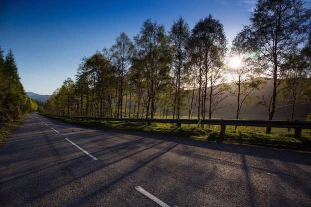 the road to Glen Afric, Scotland