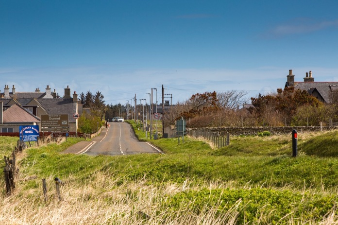 the main road through Dunnet