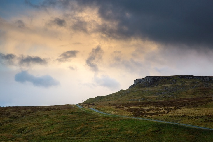 A855 and the totternish range on the Isle of Skye