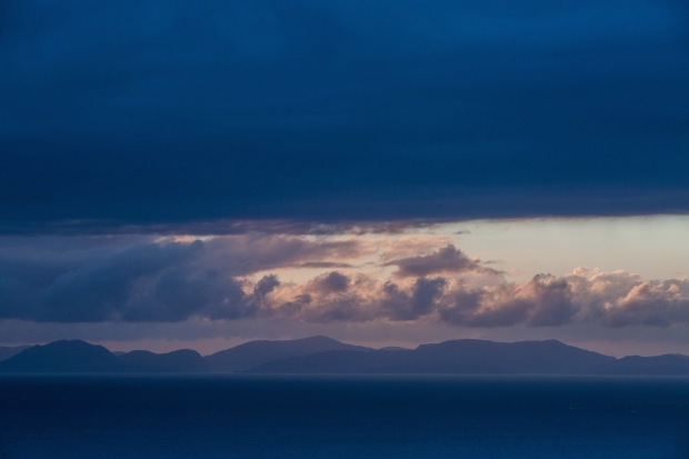 A dramatic sunset over he Isle of Harris from Rubha Hunish