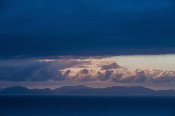 A dramatic sunset over he Isle of Harris from Rubha Hunish