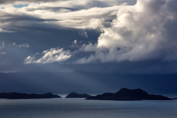 Dramatic light and clouds and the Isles of Rona and Raasay