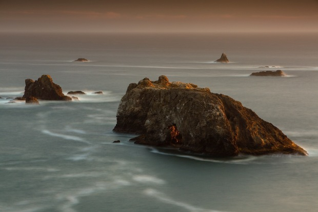 Arch Rock at dusk