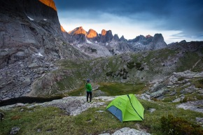 Ellen slaton hiking and camping the Cirque of the Towers