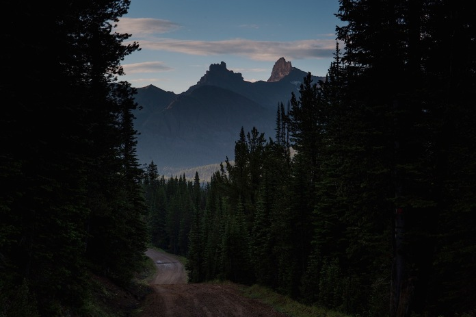 Early morning on Lulu Pass in Gallatin National Forest near Cooke City, MT