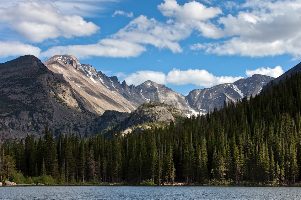 Long's peak from Bear Lake, Rocky Mountain National Park, CO