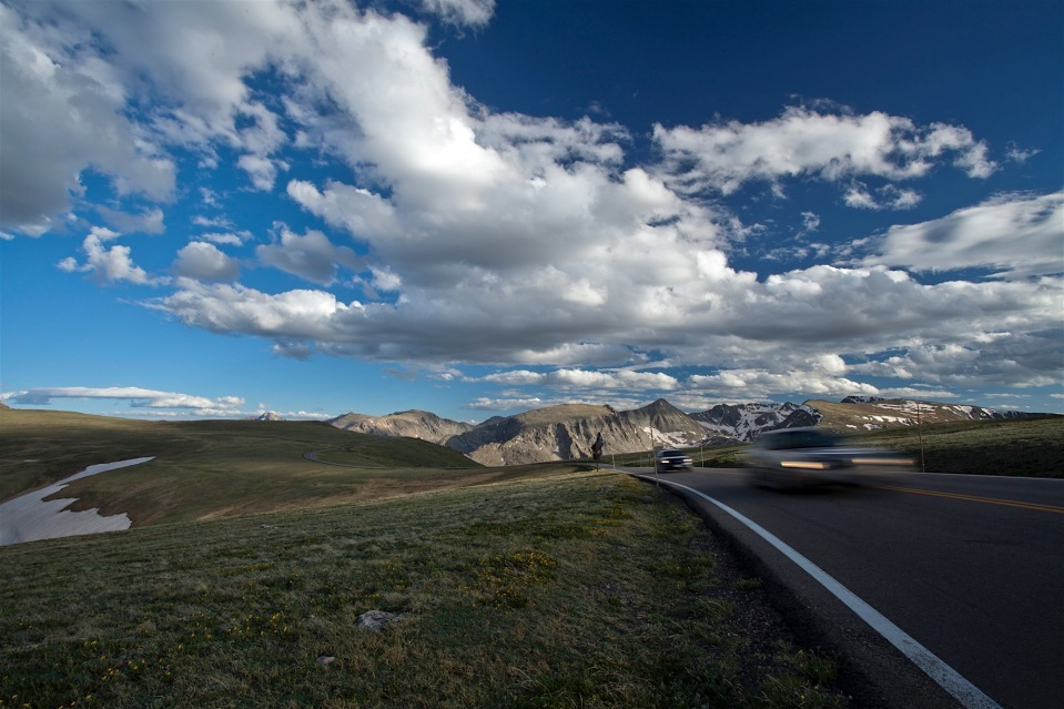 Driving Trail Ridge Road, Rocky Mountain National Park, CO