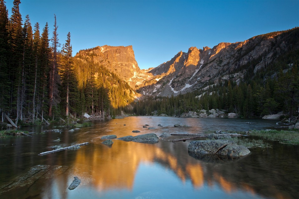 Sunrise at Dream Lake, Rocky Mountain National Park, CO