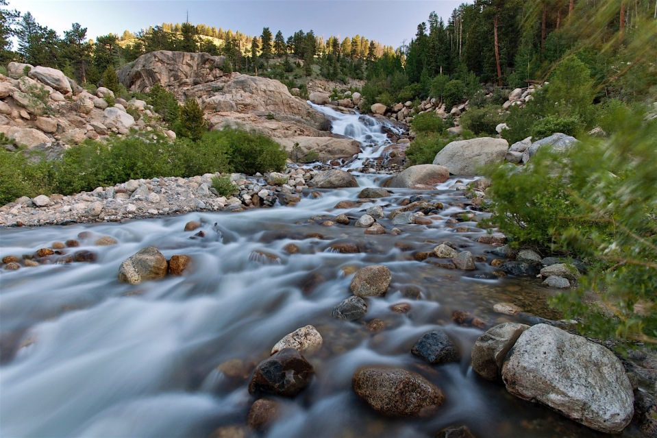 alluvial fan, Rocky Mountain National Park, CO