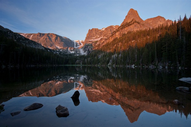 sunrise at Odessa Lake, Rocky Mountain National Park, CO