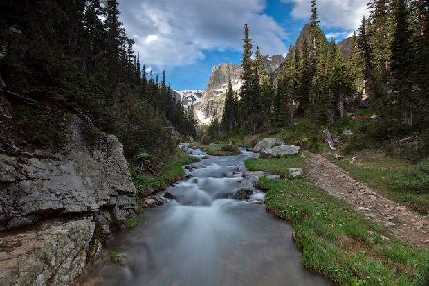Creek flowing out of Odessa Lake, Rocky Mountain National Park, CO