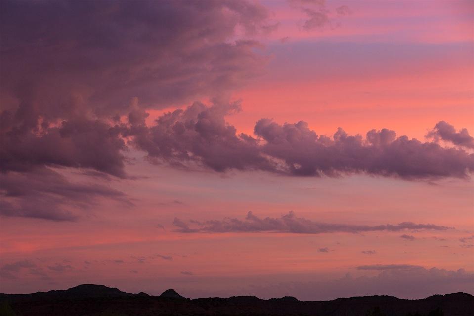 The famous West Texas sunrise
