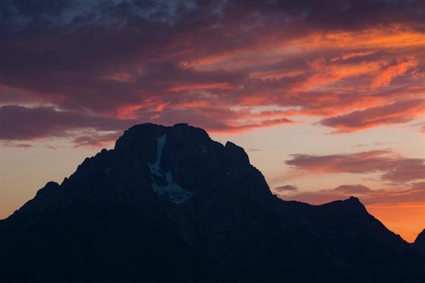 Sunset over Jackson Lake near Signal Mountain Lodge
