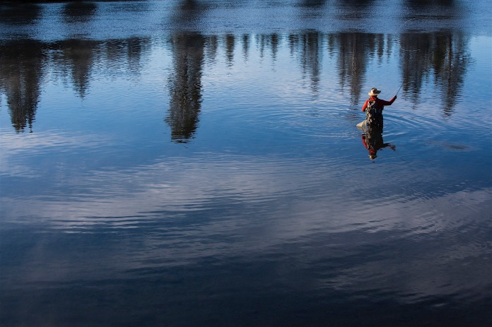 Fly fishing the Yellowstone River