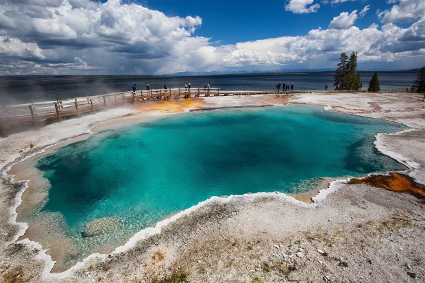 Black Pool in the West Thumb Geyser Basin