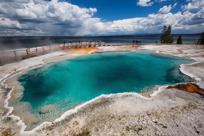 Black Pool in the West Thumb Geyser Basin